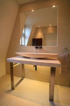 Bathroom Lighting Needs bathroom with led back lit wall | ladies mile residence