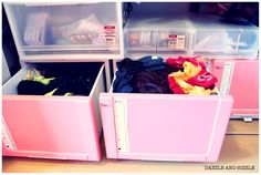 Baby pink drawers for scarves, mufflers , socks and other random stuff
