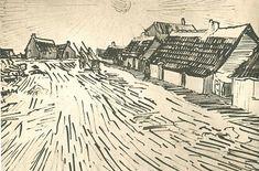 Vincent van Gogh: Row of Cottages in Saintes-Maries  Arles: 31 May-4 June 1888 (Amsterdam, Van Gogh Museum)