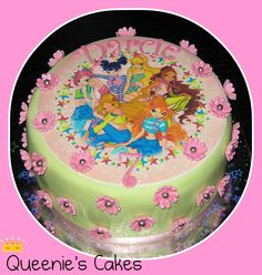 Custom-made celebration cakes, cookies & desserts for all occasions. Freshly-made fantastic looking and tasting cakes just for you! Winx Club, Flora Winx, Cata, Cookie Desserts, Celebration Cakes, Themed Cakes, Birthday Parties, Birthday Cakes, Cake Designs