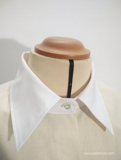 como_hacer_un_cuello_camisero_9 Sewing Collars, Collar Shirts, Sewing Tutorials, Diy Clothes, Couture, Bikinis, Pattern, How To Make, Industrial