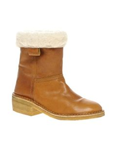Ganni Marie shearling lined boot