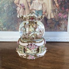 San Francisco Music Box Company Carousal Rare Capodemonte Gems  My Heart Goes On