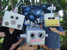 Robot Heads- Great for party photos!