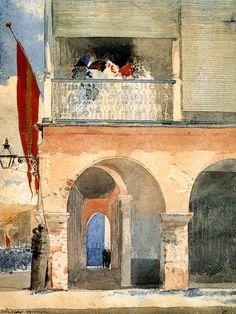 The Athenaeum - HOMER, Winslow American (1836-1910)_Customs House, Santiago de Cuba - 1885