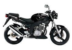 Naked Daelim Roadwin black 125cc #motorcycles