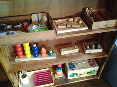 our montessori inspired shelves Montessori Preschool, Montessori Education, Kids Education, Maria Montessori, Preschool Ideas, 18 Month Activities, Home Activities, Children Activities, Baby Learning