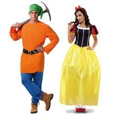 Pareja Disfraces de Enanito y Blancanieves #parejas #disfraces #carnaval