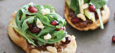 The TomKat Studio: Pear, Fig + Pomegranate Crostini :: Party Recipe