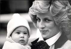 Diana and Prince Harry in 1985.