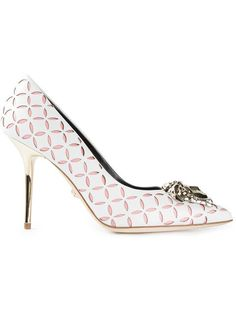 d6bd8f064798 Shop Versace perforated Medusa pumps in Elite from the world s best  independent boutiques at farfetch.