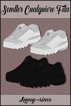 Semller's Cualquiere sneakers conversion at Lumy Sims • Sims 4 Updates