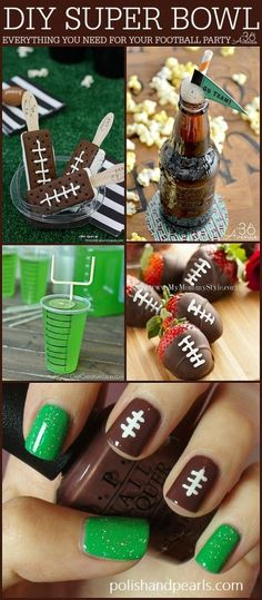 Bowl Party Ideas Super Bowl Party Ideas over at Pin it now and make them later!Super Bowl Party Ideas over at Pin it now and make them later! Football Super Bowl, Football Tailgate, Football Food, Football Parties, Football Season, Football Treats, Football Birthday Themes, Superbowl Decor, Football Info