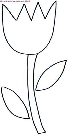 1maman2filles coloriage tulipe