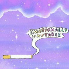 Glitter kawaii quotes Grunge galaxy purple cigarette pale pastel ...