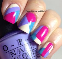 Fierce Makeup and Nails: Abstract Nail Art