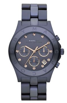 Navy watch by Marc Jacobs.