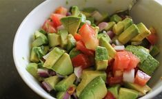 Make This Quick Avocado Salad Now | Men's Health So easy and so delicious- as a side, on tacos, really anything!