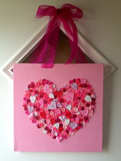 Valentines day decor 12 x 12 Canvas painted with pink acrylic paint The heart was traced and fille Valentines day decor 12 x 12 Canvas painted with pink acrylic paint The heart was traced and fille Jessica Prince nbsp hellip Acrylic Canvas, Diy Canvas, Canvas Ideas, Valentines Diy For Him, Happy Hearts Day, Heart Day, Pink Acrylics, Tis The Season, Painting Inspiration