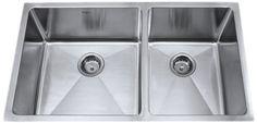 Kraus 33 inch Undermount 60/40 Double Bowl 16 gauge Stainless Steel Kitchen Sink