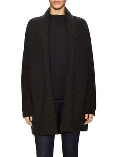 Basketweave Wool Cardigan by Vince at Gilt