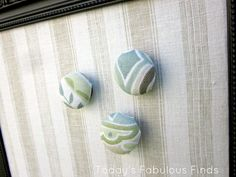 Fabric Covered Glass Stone Magnets (Tutorial)