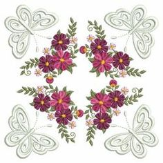 Flower Beauties 07(Lg) machine embroidery designs