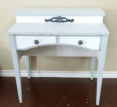 Distressed sewing machine cabinet