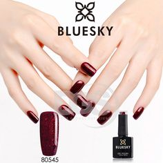 Bluesky 80545 RUBY RITZ UV/LED Soak Off Gel Nail Polish Colour 10ml Free Postage Bluesky Nail Polish, Bluesky Shellac, Gel Nail Polish Colors, Shellac Colors, Nail Polish Art, Shellac Nails, Uv Gel Nails, Red Nails, Manicure