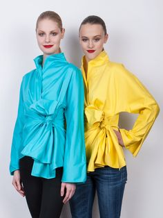 Wear them with jeans, leggings, anything... these colorful wrap blouses will re-energize your wardrobe!