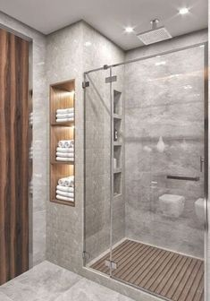 Idias do banheiro com chuveiro - Bathroom remodel master - Dream Bathrooms, Amazing Bathrooms, Bathroom Small, Bathroom Storage, Bathroom Gray, Basement Bathroom, Bathroom Organization, Small Bathroom Decorating, Small Bathroom Designs