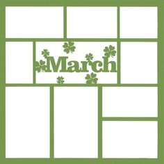March 12 x 12 Overlay Laser Die Cut Scrapbook Patterns, Scrapbook Titles, Scrapbook Sketches, Baby Scrapbook, Scrapbooking Layouts, Digital Scrapbooking, Silhouette Cameo Projects, Silhouette Design, Project Life