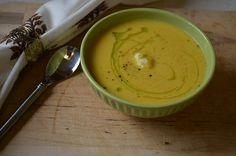 Roasted Cauliflower Curry Soup (Paleo Friendly)