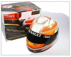 Model #helmet mini formula one 1 lotus f1 team new! #romain #grosjean 1/2 scale,  View more on the LINK: 	http://www.zeppy.io/product/gb/2/122018266284/