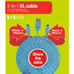 2-in-1 XL CABLE: IPHONE | dci