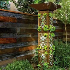 DIY a Vertical Garden Tower Sunset - if you have a small footprint or rent an apartment