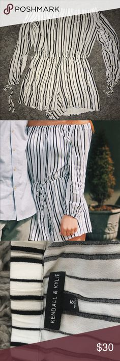 Kendall and Kylie romper Kendall and Kylie striped romper, worn once, like new Kendall & Kylie Dresses Mini