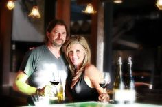 John Wright- owner and winemaker with wife Laura.