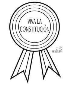 Medalla viva la Constitucion Ideas Para, Dic, Montessori, Butterflies, Pose, Garden, Constitution Day, School Projects, Activities