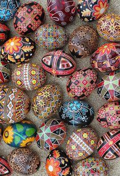 Ukrainian Easter eggs.