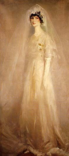 """Girl in Wedding Gown,"" by Robert Henri, 1910. Oil. via @Smithsonian American Art Museum"