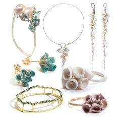 Ceramic jewelry by Ruth Tomlinson