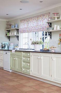 pretty pastels kitchen