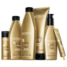 Redkin All Soft product line. Love the shampoo and conditioner. Brings dry, brittle, color damaged hair back to being healthy. Love this.
