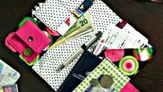 Easy Sewing Project for Travel Wallet - Scrap-buster!