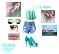 """""""blue beauty"""" by xfangirllife on Polyvore featuring Topshop, Gianvito Rossi, Blue and story"""
