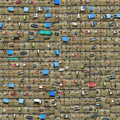 Traffic Chaos, picture from the series Global Village by Nancy Lee, LUMAS Artist ✓ Kunst Online, Online Art, Aerial Photography, Art Photography, City Collage, Global Village, Contemporary Frames, Background Information, Art Pictures
