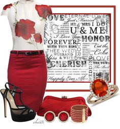 """""""Lady in Red"""" by christa72 ❤ liked on Polyvore"""