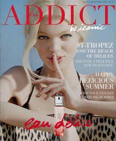 """""""Dior Addict Magazine"""" Drawn letters 'eau delice' (描き文字)"""