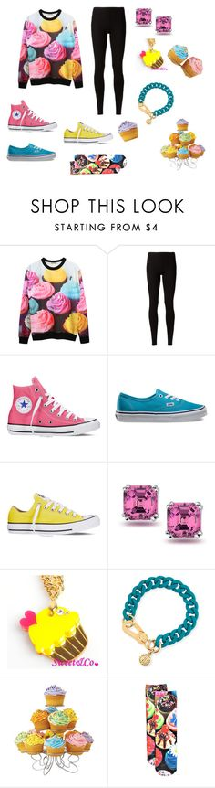 """""""Cupcake craziness"""" by nosaj14 ❤ liked on Polyvore featuring Rick Owens Lilies, Converse, Vans, Bling Jewelry, Sweet & Co., Marc by Marc Jacobs, Wilton and Boohoo"""